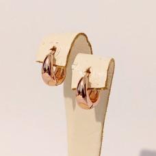 Сережки Xuping маленькі колечка розмір 11х5 мм, позолота РВ