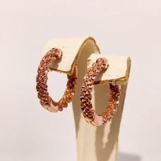 Сережки Xuping колечки об`ємні розмір 15*3мм, вага 3,2гр, позолота РО