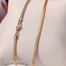 Ланцюжок Xuping Змійка плоска длина 50 см, ширина 3 мм, вага 6.8гр, позолота 18К