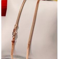 Ланцюжок Xuping Змійка плоска длина 50 см, ширина 3 мм, вага 6.5гр, позолота РО