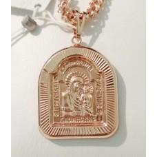 Иконка Богородица Казанская размер 39*25 мм, позолота РО