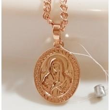 Иконка Божья Матерь 00078 размер 27*16 мм, позолота РО