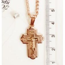 Крестик с Иисусом размер 00211 34*18 мм, позолота РО