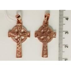 Крестик с Иисусом 00220 размер 32х15 мм, позолота РО