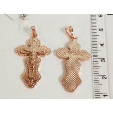 Крестик с Иисусом 00283 размер 40*20 мм, позолота РО