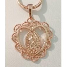 Иконка Богородица ажурное сердце размер 34*25 мм, позолота РО