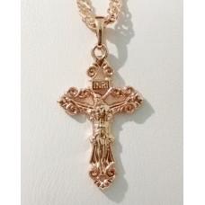 Крестик с Иисусом 00630 размер 34*18 мм, позолота РО