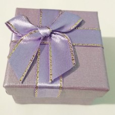 Подарочная коробочка для серёг/кольца  5х5х3,5 см сиреневая