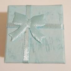 Подарочная коробочка для кольца/серёг 4х4х3 см голубая