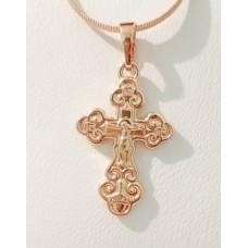 Крестик с Иисусом  00813 размер 28х15 мм, позолота РО