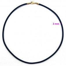 Каучуковый шнурок длина 50 см, ширина 3 мм, позолота РО